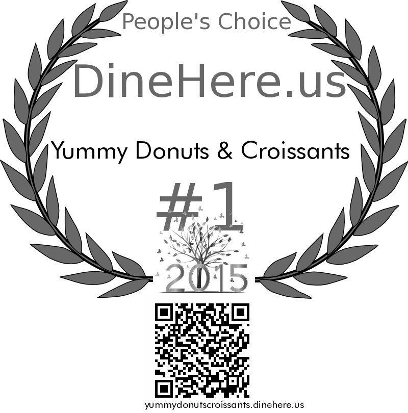 Yummy Donuts & Croissants DineHere.us 2015 Award Winner